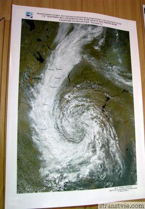Циклон на карте погоды