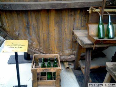 Установка для розлива пива в музее пива