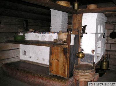 Печка в крестьянской избе