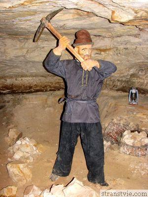 рудокоп в саблинской пещере