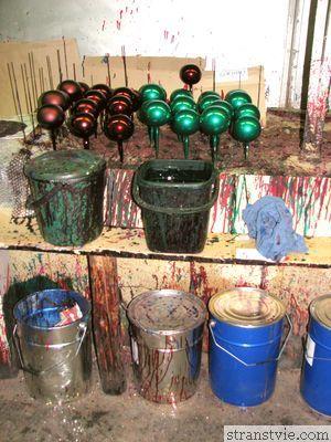 Покраска ёлочных игрушек