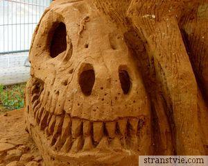 Песчаный череп в Коломенском