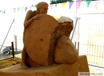 Камень преткновения на выставке в Коломенском