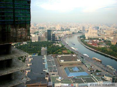 Вид с башни Федерация на Москву