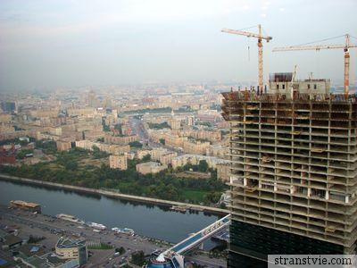 Вид на Москву из башни Федерация