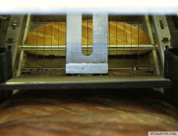 Нарезка хлеба на производстве