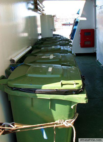Раздельный сбор мусора на корабле