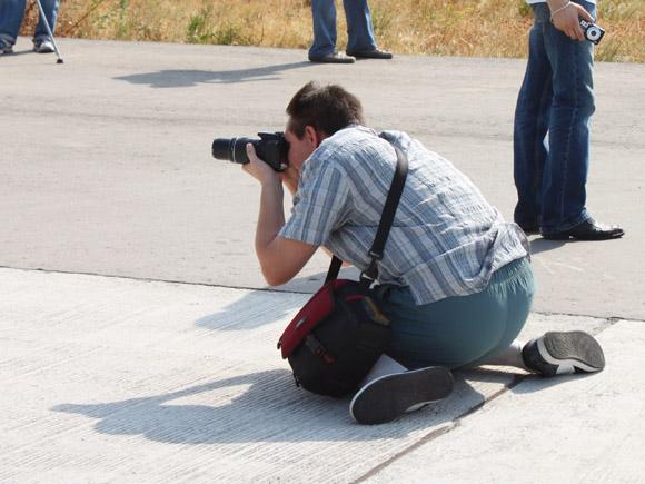 Фотограф на летном поле