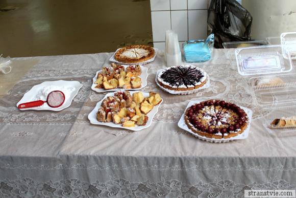 Пирожные на кондитерской фабрике